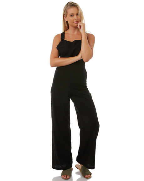 BLACK WOMENS CLOTHING AFENDS PLAYSUITS + OVERALLS - W181884BLK