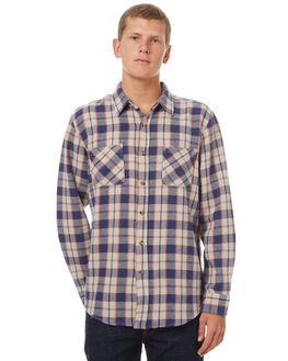 BLUE GREY MENS CLOTHING BRIXTON SHIRTS - 01085BLGRY