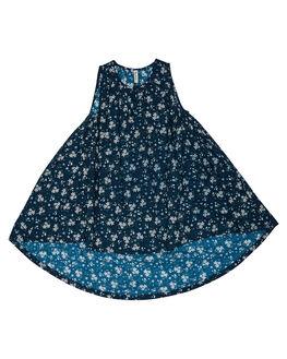 BLUE FLORAL KIDS TODDLER GIRLS ISLAND STATE CO DRESSES - FLRHLDRS-BLUFL