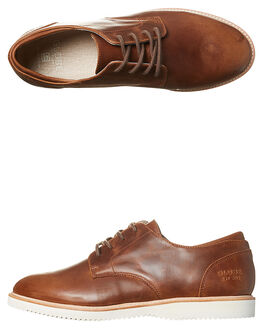 DARK BROWN MENS FOOTWEAR GLOBE FASHION SHOES - GBWOLF-17253