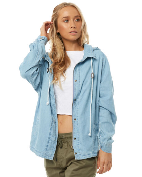 CHAMBRAY WOMENS CLOTHING SWELL JACKETS - S8182382CHAMB