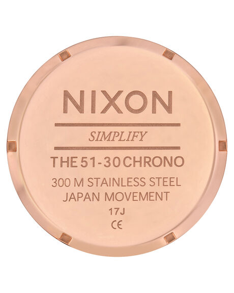 ALL ROSE GOLD BLACK MENS ACCESSORIES NIXON WATCHES - A083-1932-RSEGD