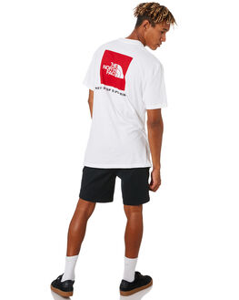 WHITE RED MENS CLOTHING THE NORTH FACE TEES - NF0A471ALB1