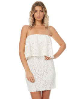 WHITE WOMENS CLOTHING MINKPINK DRESSES - MP1706472WHT