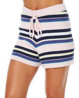 MULTI STRIPE WOMENS CLOTHING SWELL SHORTS - S8161237MUL
