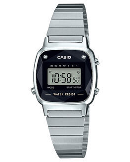 SILVER WOMENS ACCESSORIES CASIO WATCHES - LA670WAD-1DSIL