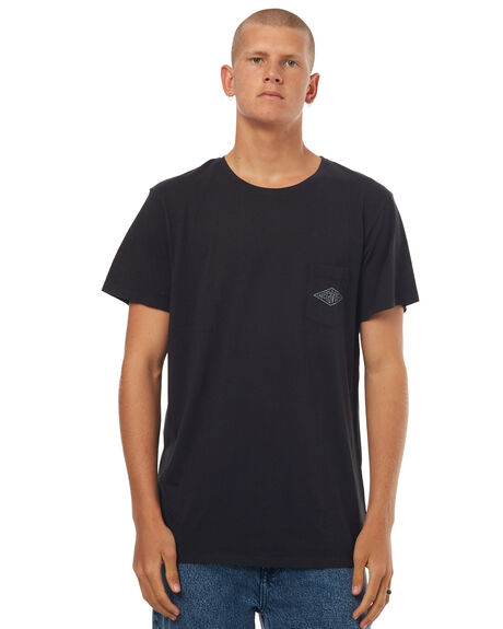 BLACK MENS CLOTHING MCTAVISH TEES - MW-17T-04BLA