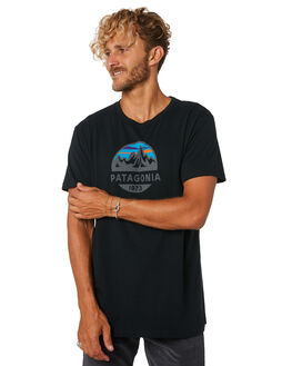BLACK MENS CLOTHING PATAGONIA TEES - 39144BLK