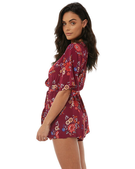 PLUM WOMENS CLOTHING TIGERLILY PLAYSUITS + OVERALLS - T385400PLUM