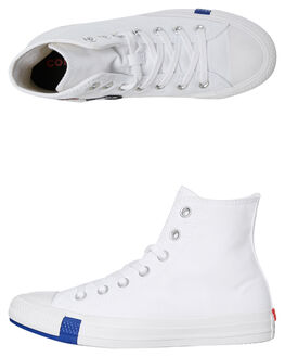 WHITE KIDS BOYS CONVERSE SNEAKERS - 366989CWHT