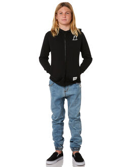 BLACK KIDS BOYS HURLEY JUMPERS + JACKETS - AO2211010