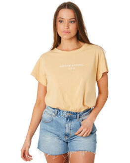 WHEAT WOMENS CLOTHING RHYTHM TEES - OCT19W-PT02WHE