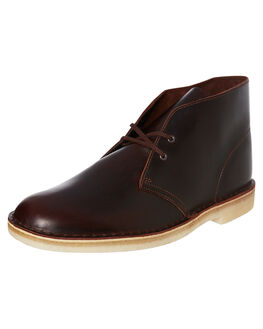 CHESTNUT LEATHER MENS FOOTWEAR CLARKS ORIGINALS BOOTS - SS26144228CHESM