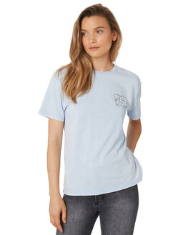 PALE SLATE WOMENS CLOTHING RUSTY TEES - TTL0994PAT