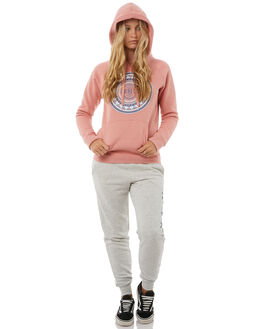 RUST PINK HEATHER WOMENS CLOTHING HURLEY JUMPERS - AGFLPMNDH6GM