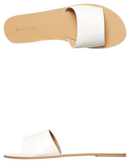 WHITE WOMENS FOOTWEAR BILLINI SLIDES - S452WHT