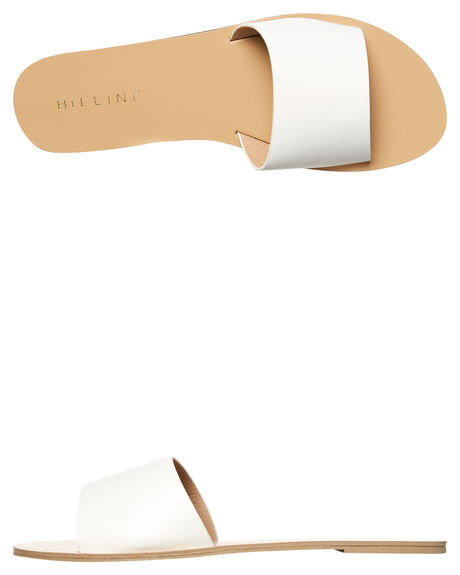WHITE WOMENS FOOTWEAR BILLINI SLIDES - S452WHT