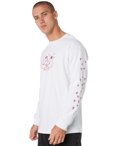 WHITE MENS CLOTHING PASS PORT TEES - PPLUVERSWHT