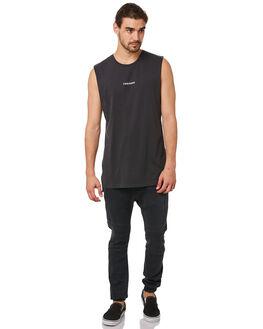 VINTAGE BLACK MENS CLOTHING ZANEROBE SINGLETS - 114-METVBLK