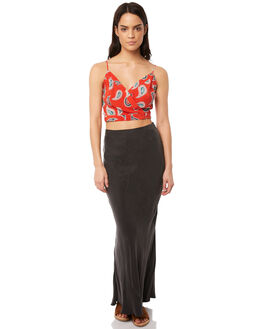 RED WOMENS CLOTHING TIGERLILY FASHION TOPS - T381043RED