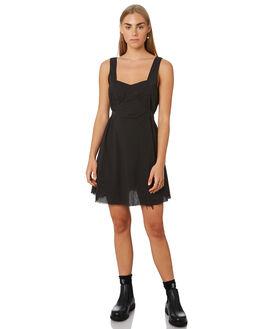 FADED BLACK WOMENS CLOTHING THRILLS DRESSES - WTR9-902BFFBLK