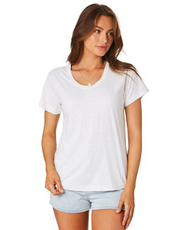 WHITE WOMENS CLOTHING ZULU AND ZEPHYR TEES - ZZ2966WHT