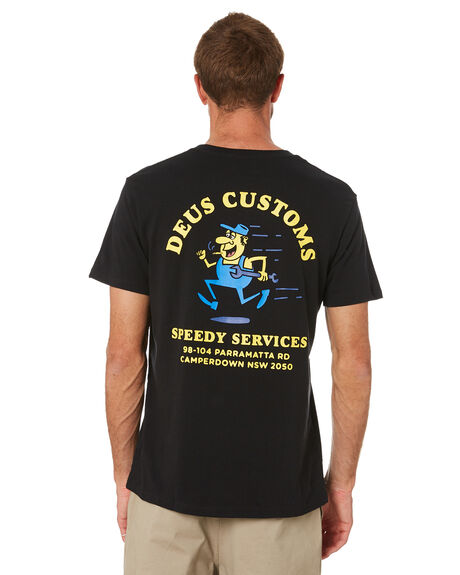 BLACK MENS CLOTHING DEUS EX MACHINA TEES - DMW2011251ABLK