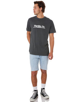 MERCH BLACK MENS CLOTHING THRILLS TEES - TS9-110MBMCBLK