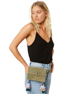 SAGE SUEDE WOMENS ACCESSORIES THE WOLF GANG BAGS + BACKPACKS - TWGSS18B21SGE