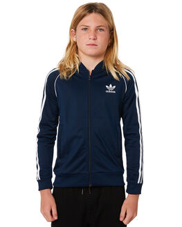 COLLEGIATE NAVY KIDS BOYS ADIDAS JUMPERS + JACKETS - CF8554CNVY