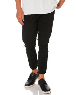 BLACK MENS CLOTHING ACADEMY BRAND PANTS - 19S103BLK