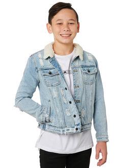 BLUE DENIM KIDS BOYS ST GOLIATH JUMPERS + JACKETS - 2433044DEN