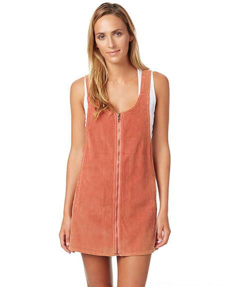 RUST WOMENS CLOTHING AFENDS DRESSES - 51-03-126RUST