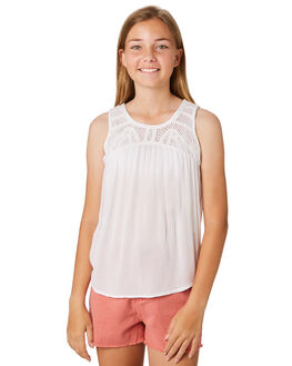 WHITE KIDS GIRLS RIP CURL TOPS - JSHAL11000