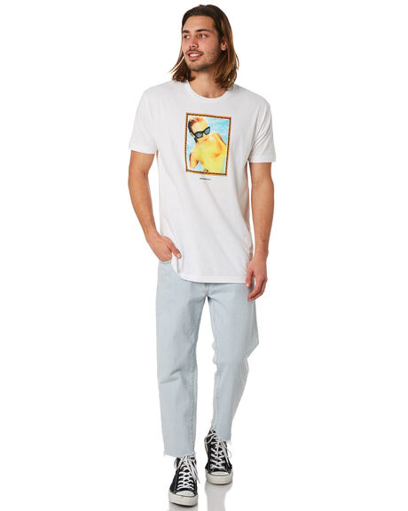 WHITE OUTLET MENS GOOD WORTH TEES - TTR1821WHT