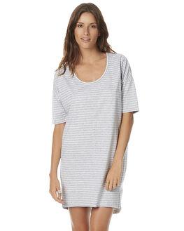 GREY WHITE STRIPE WOMENS CLOTHING SWELL DRESSES - S8161460GWS