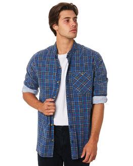 TRUE BLUE CHECK MENS CLOTHING ROLLAS SHIRTS - 155594129
