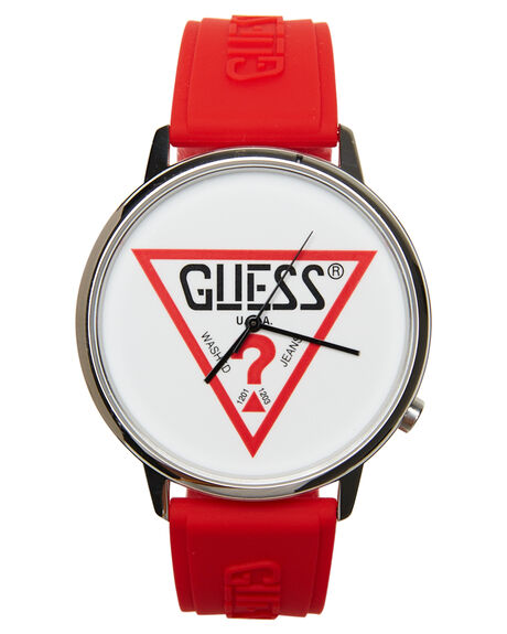 RED MENS ACCESSORIES GUESS ORIGINALS WATCHES - V1003M3RED