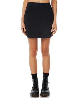 BLACK WOMENS CLOTHING AFENDS SKIRTS - W183900-BLK