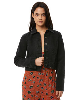BLACK PEBBLE WOMENS CLOTHING BILLABONG JACKETS - 65868926BP