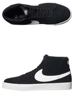 BLACK WHITE MENS FOOTWEAR NIKE HI TOPS - 864349-002