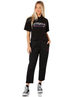 BLACK WOMENS CLOTHING STUSSY PANTS - ST187606BLK