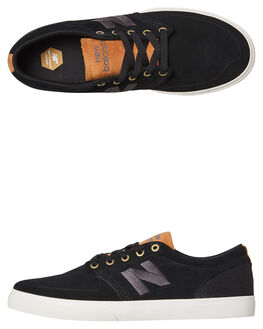 BLACK BROWN MENS FOOTWEAR NEW BALANCE SKATE SHOES - NM345BLB