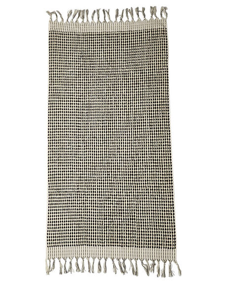 BLACK WHITE MENS ACCESSORIES MAYDE TOWELS - S13SUCRESBLK