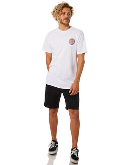 WHITE MENS CLOTHING SANTA CRUZ TEES - SC-MTC8951WHITE