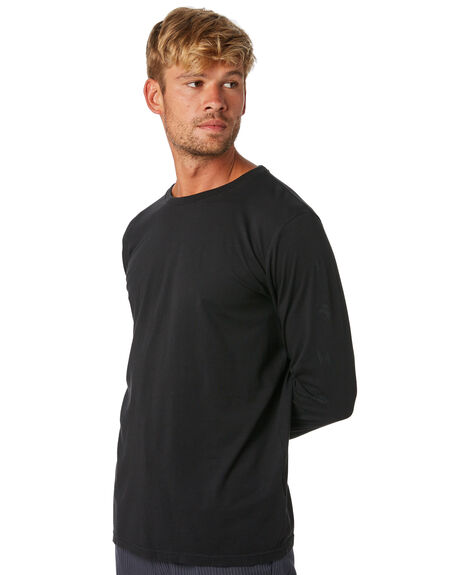 BLACK MENS CLOTHING RVCA TEES - R193106BLK