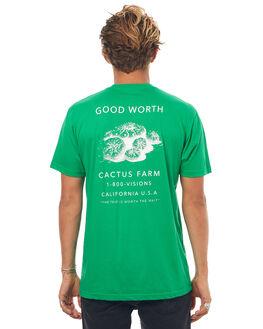 GREEN MENS CLOTHING GOOD WORTH TEES - TCF1732GREEN