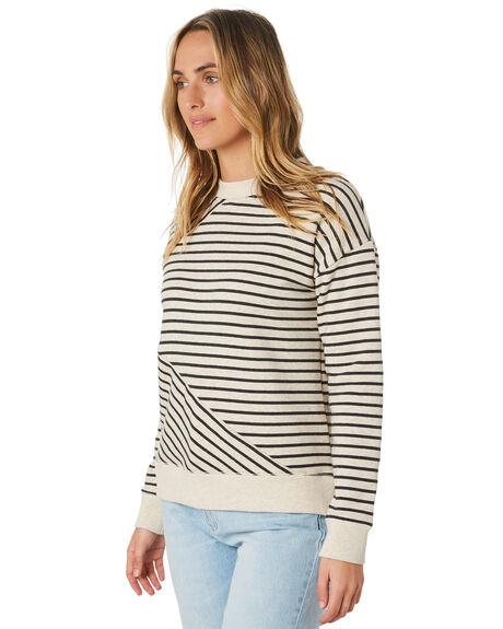 OATMEAL STRIPE WOMENS CLOTHING O'NEILL JUMPERS - 5921503-OAS