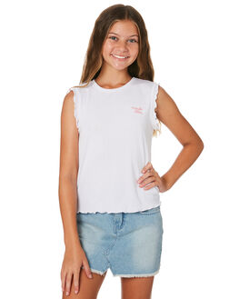 WHITE KIDS GIRLS EVES SISTER TOPS - 9520012WHT