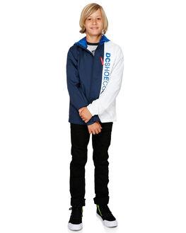 NAUTICAL BLUE KIDS BOYS DC SHOES JUMPERS + JACKETS - EDBJK03043-BQR0